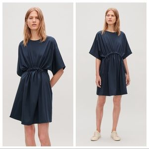 COS Jersey Tee Shirt Dress with Gathered Detail